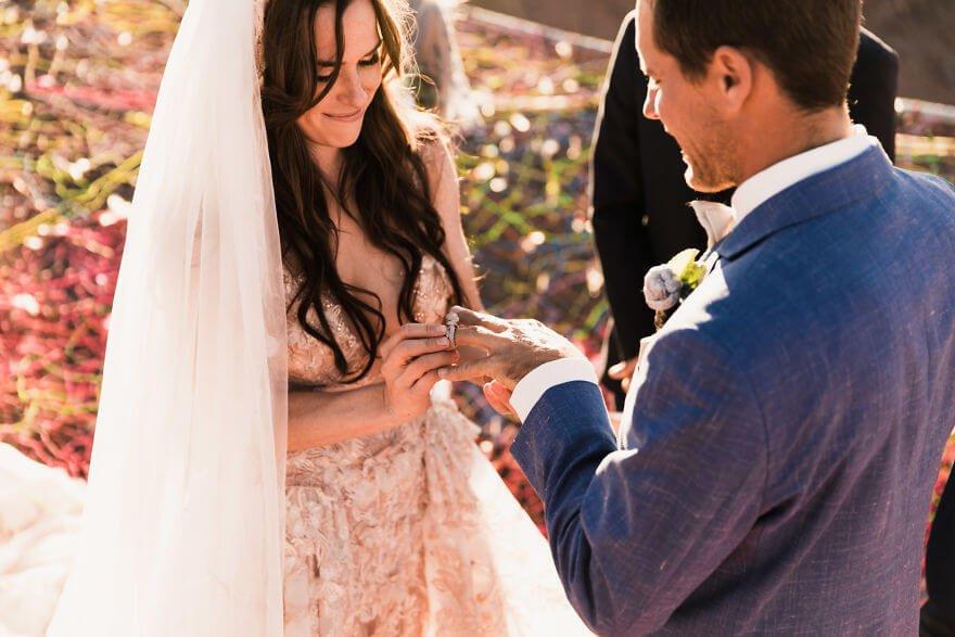 Свадебная фотосессия в воздухе, фото 6