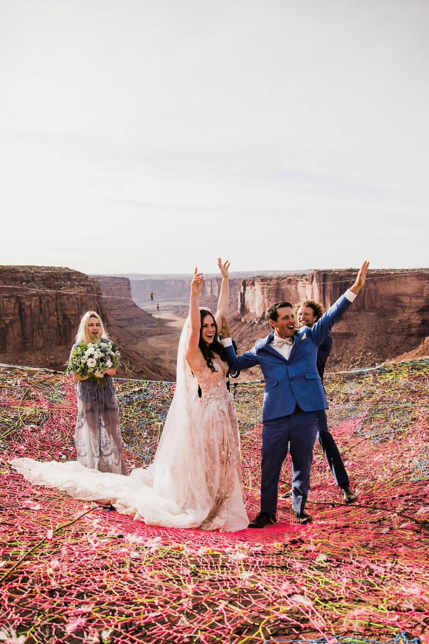 Свадебная фотосессия в воздухе, фото 7