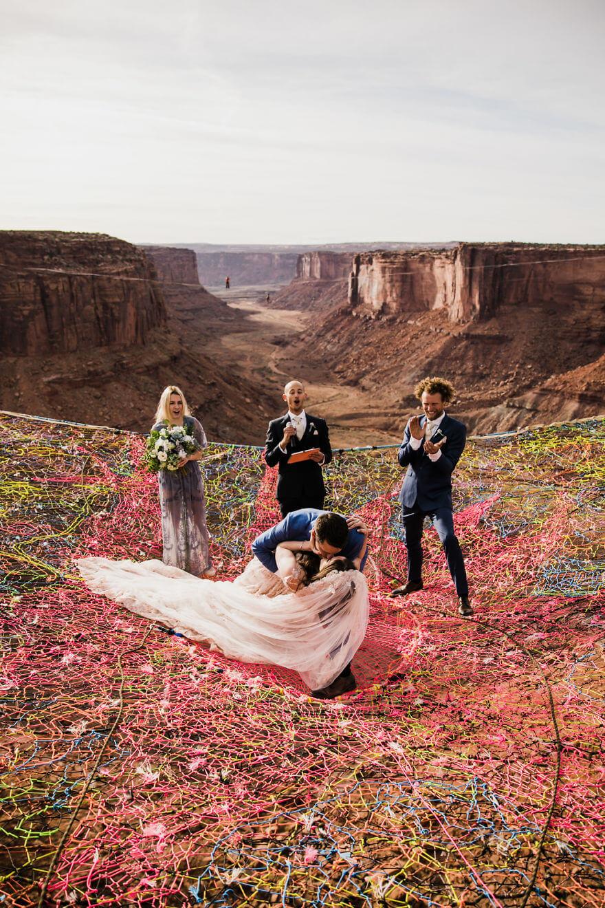 Свадебная фотосессия в воздухе, фото 8