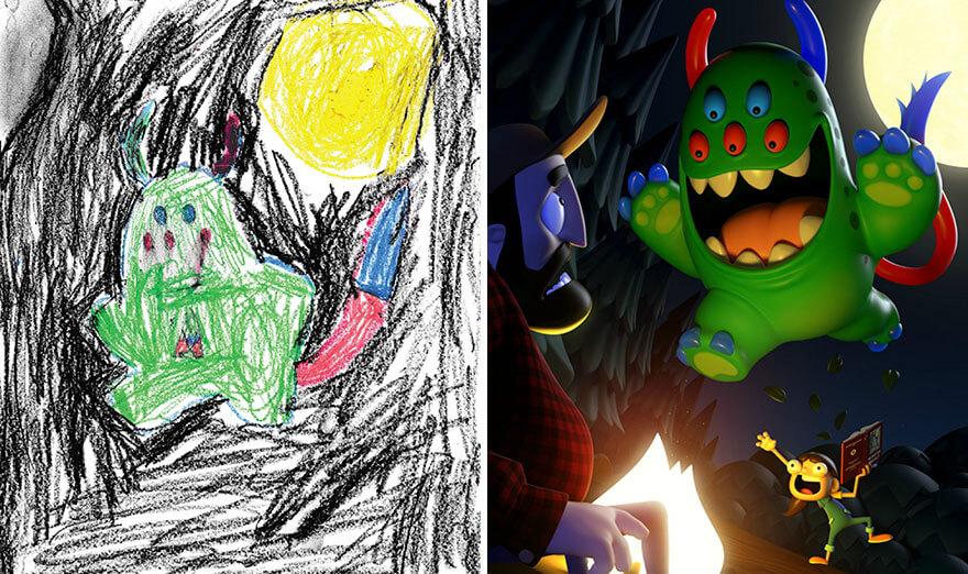 детские монстры от профессиональных художников, фото 15