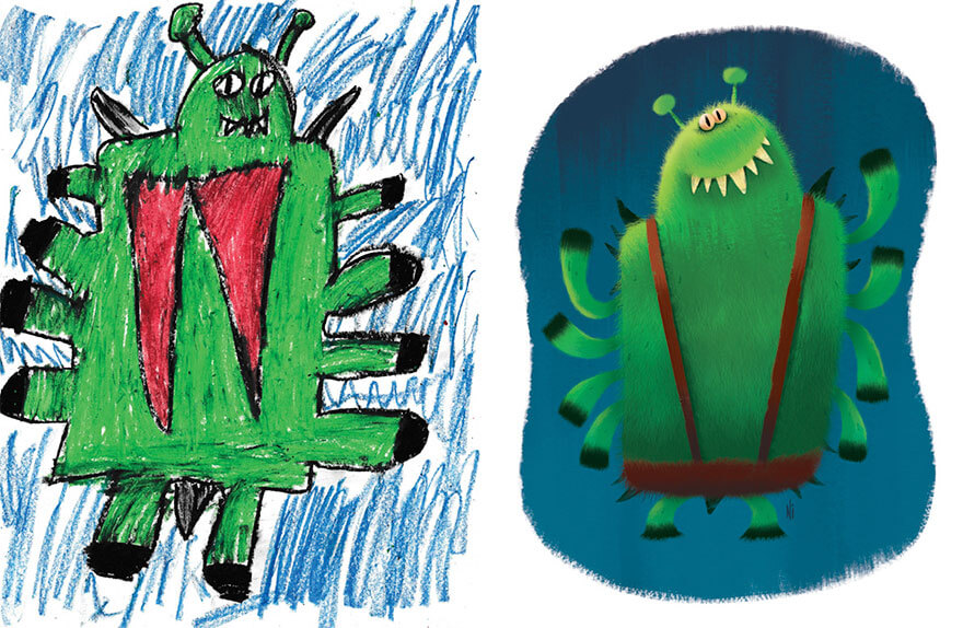 детские монстры от профессиональных художников, фото 16