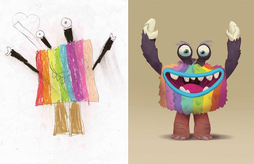 детские монстры от профессиональных художников, фото 18