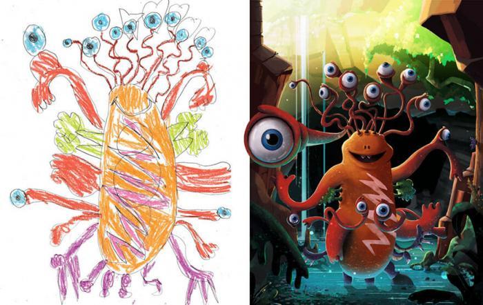 Что получается, когда профессиональные художники воссоздают монстров с детских рисунков в уникальном стиле