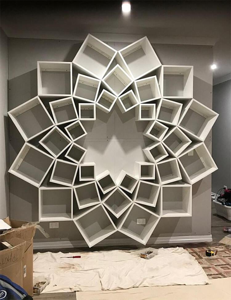 Оригинальный книжный шкаф, фото 4