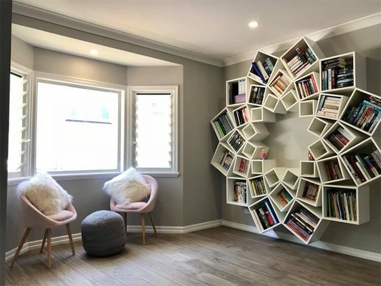 Оригинальный книжный шкаф, фото 5