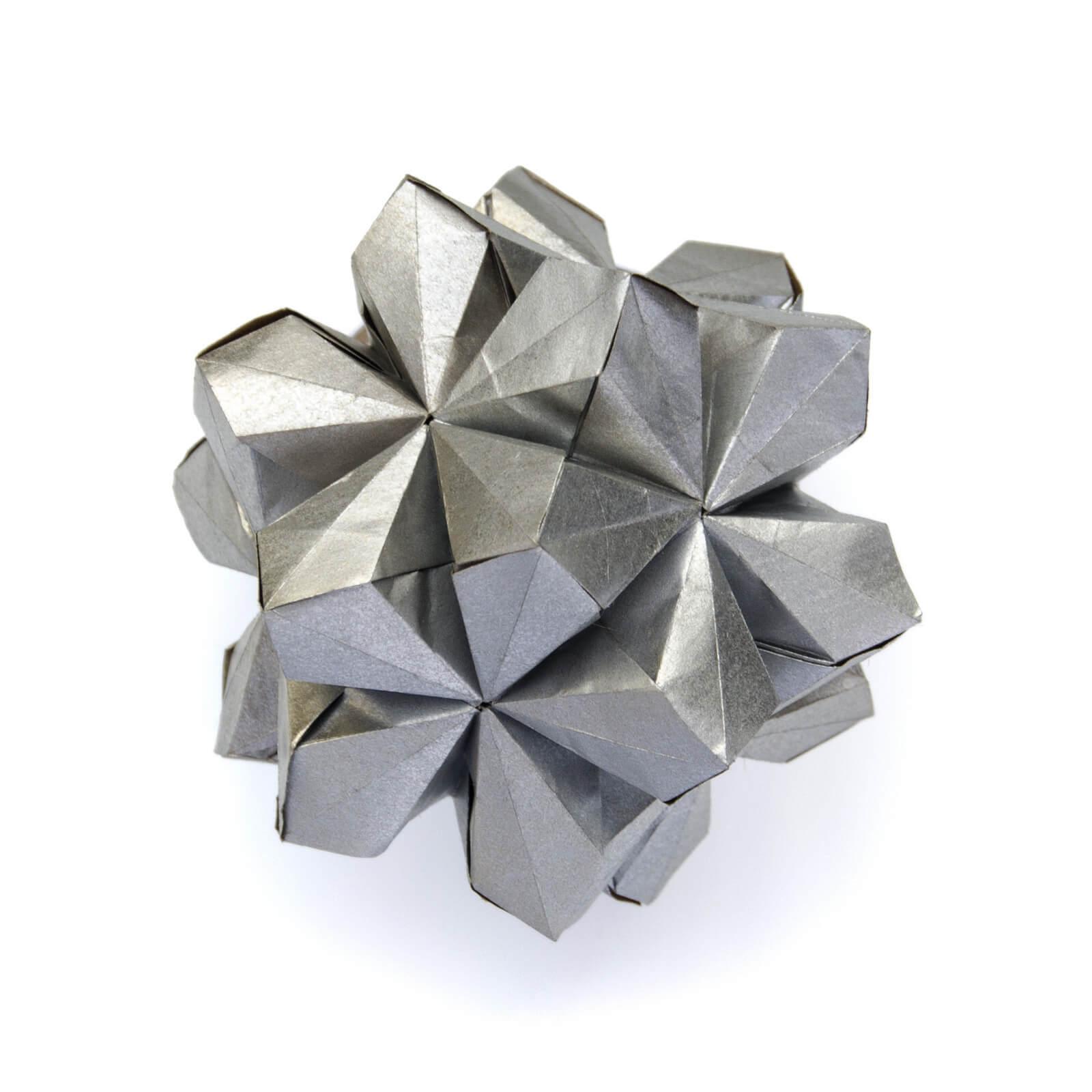 Шедевры в технике Кусудама и тесселяции, оригами от Екатерины Лукашевой, фото 11