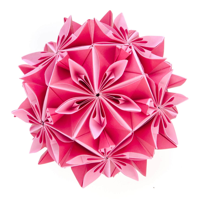 Шедевры в технике Кусудама и тесселяции, оригами от Екатерины Лукашевой, фото 8