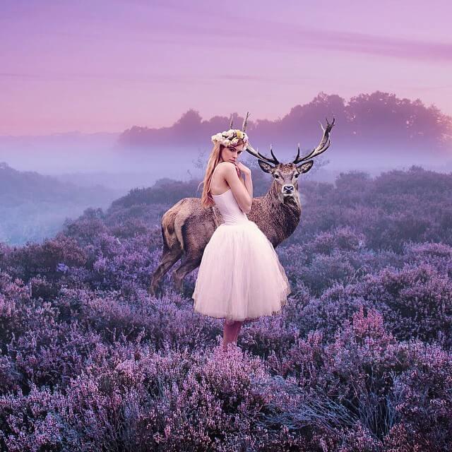 Профессиональный фотограф создает сказочные изображения животных на неожиданных локациях