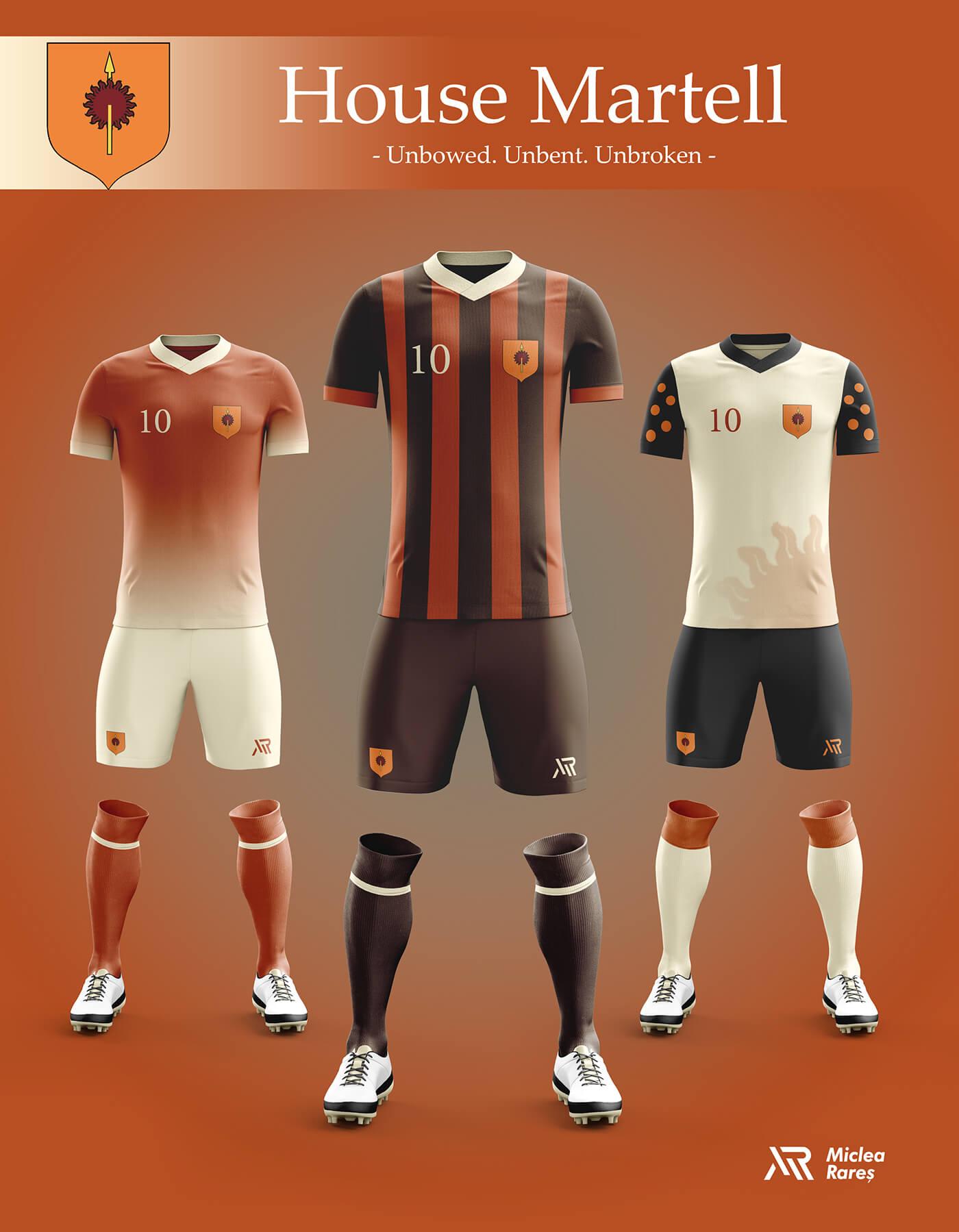 Уникальный дизайн футбольной экипировки Игры престолов, фото 6