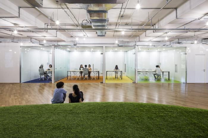 Зелёные офисы имитируют парковые зоны, чтобы повысить продуктивность сотрудников