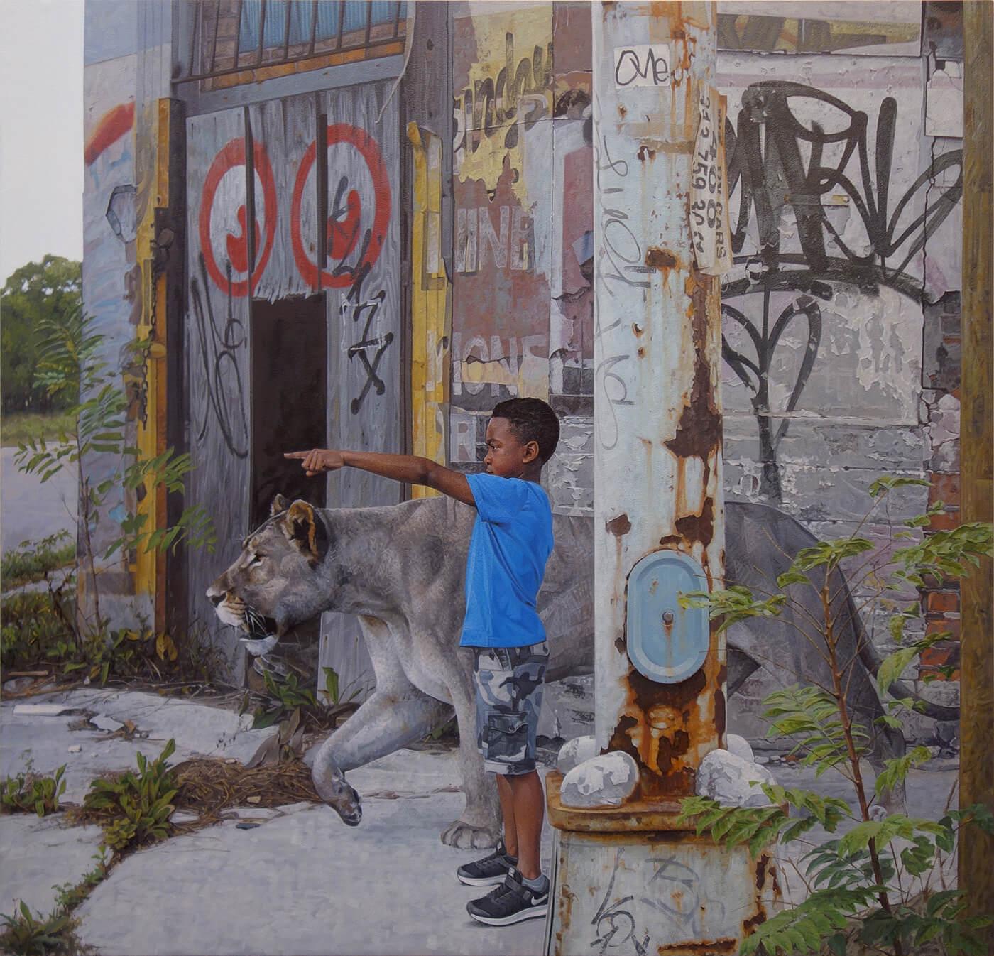 Дети и животные, картины Кевина Петерсона, фото 2