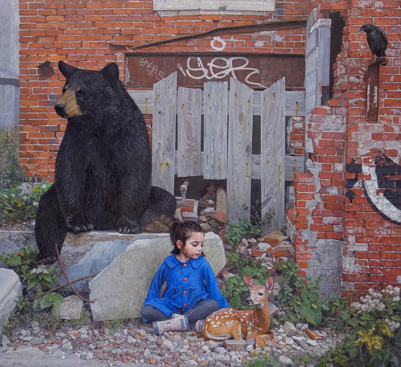 Дети и животные, картины Кевина Петерсона, фото 3