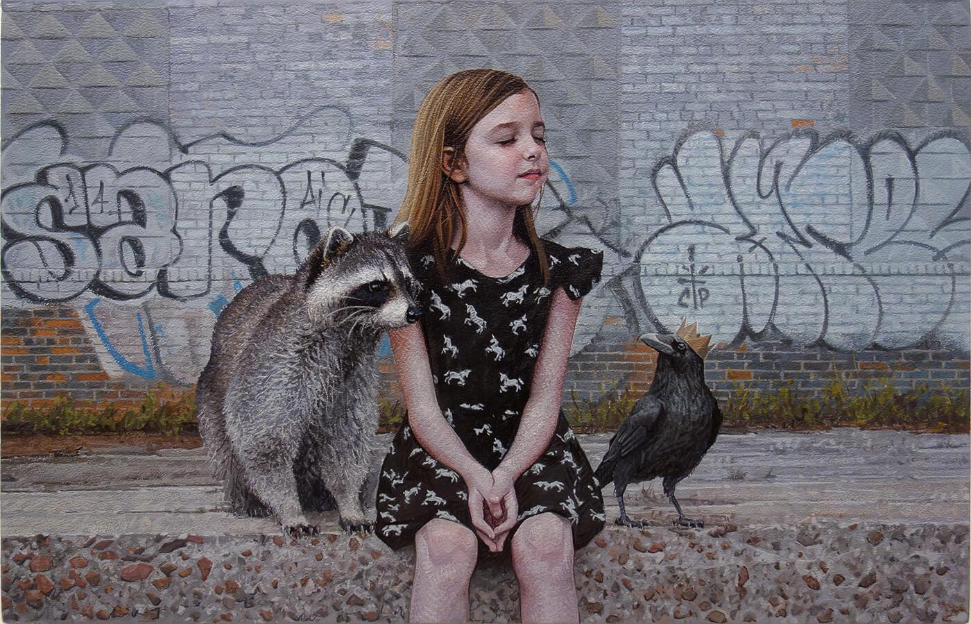 Дети и животные, картины Кевина Петерсона, фото 4