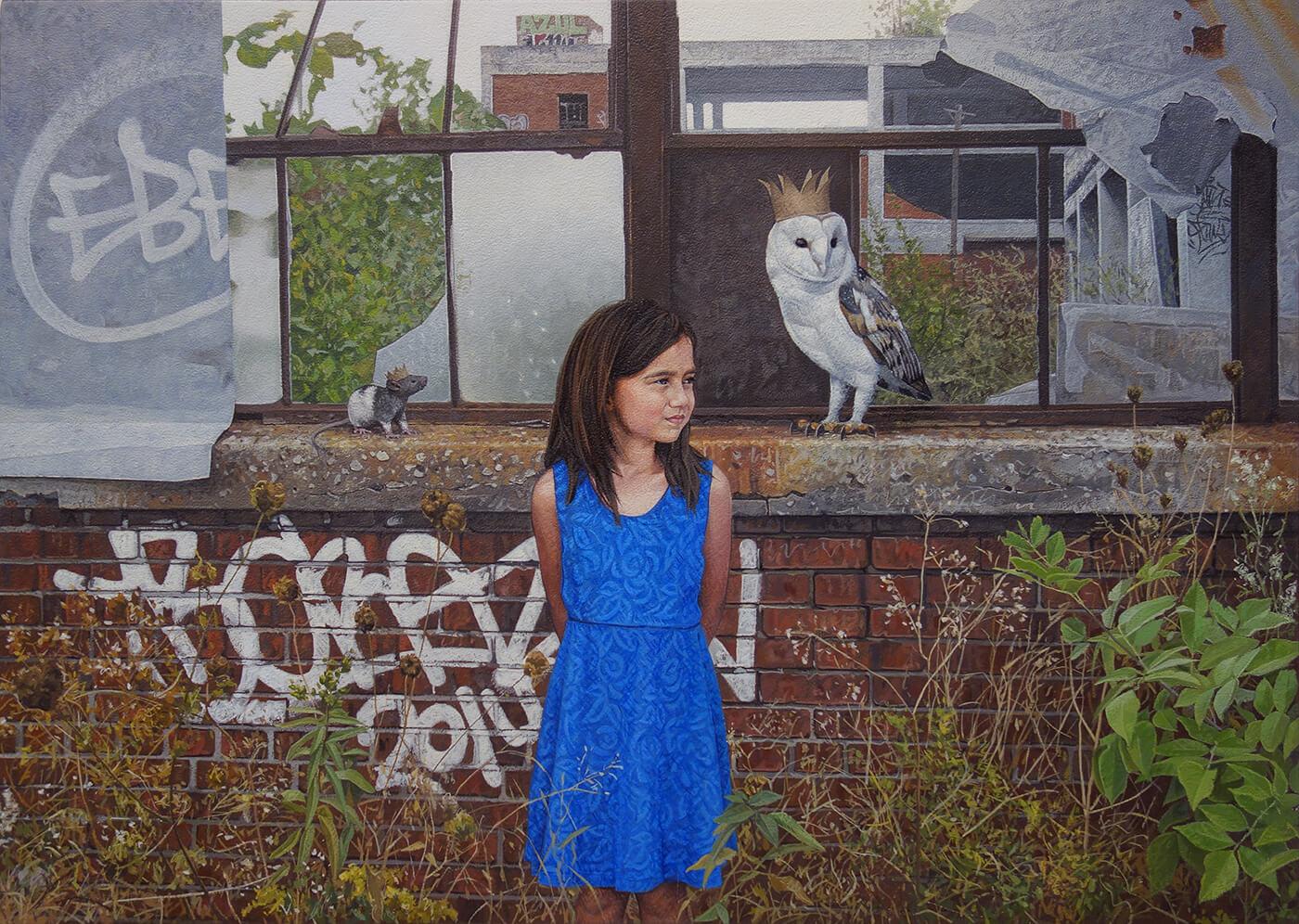 Дети и животные, картины Кевина Петерсона, фото 5