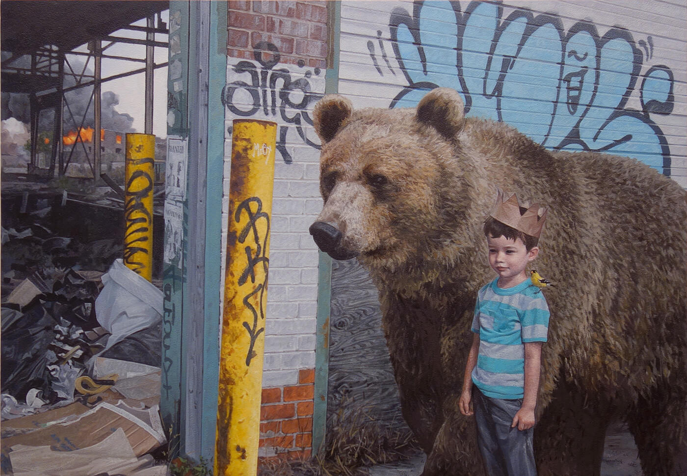 Дети и животные, картины Кевина Петерсона, фото 6