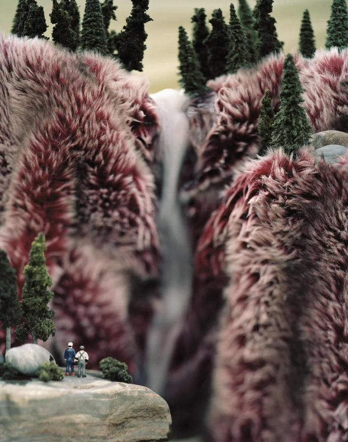 Серия пейзажных фотоминиатюр из искусственного меха – еще одна история о природе Дикого Запада