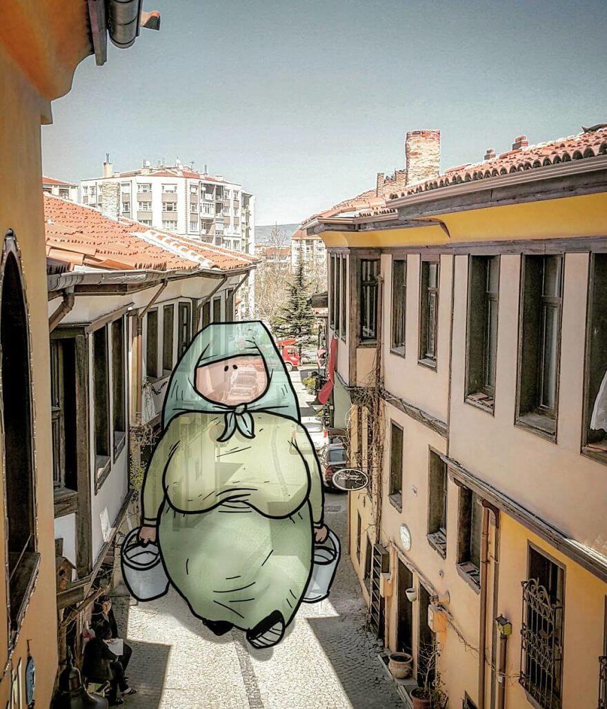 оригинальные иллюстрации с гигантами, фото 9
