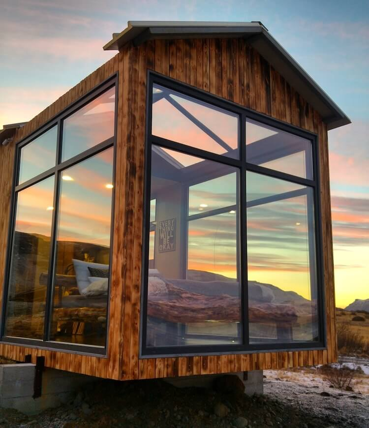 Исландский коттедж с панорамными окнами, северное сияние, фото 4