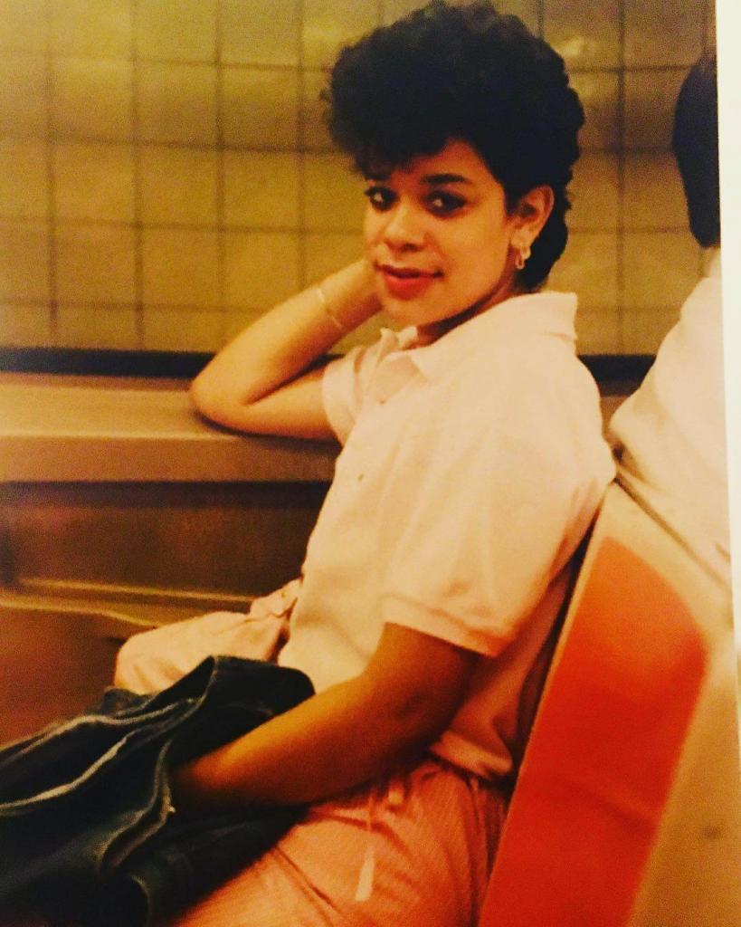 """Rolling solo."" Маршрут F, станция Деланси-стрит. Середина 1980-х. Нью-Йорк."