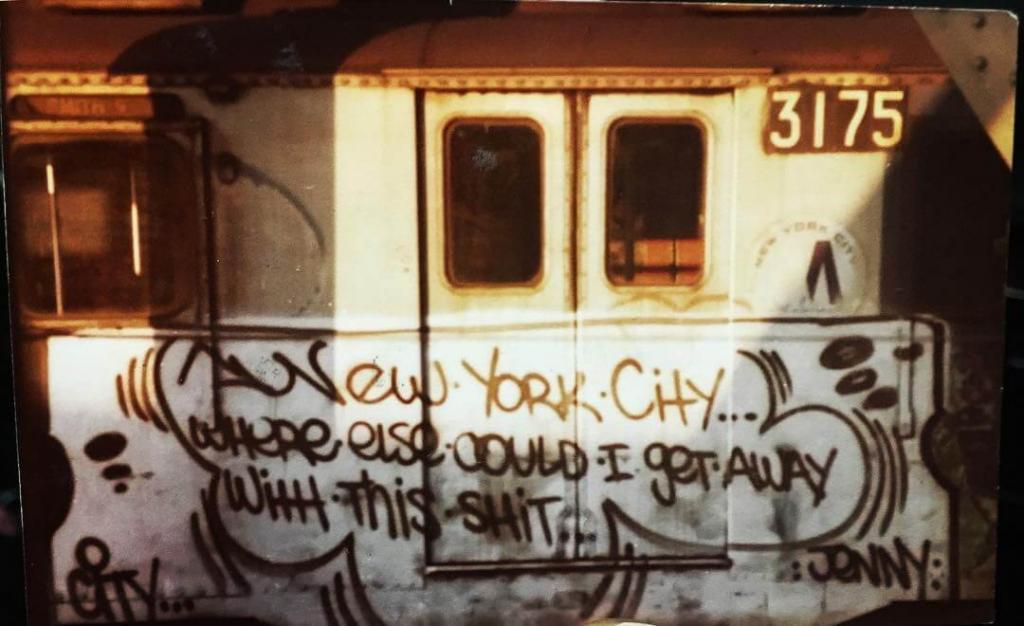 «Нью-Йоркское состояние души» (A New York state of mind). Маршрут F. Смит-стрит — Девятая улица. Бруклин. 1980.